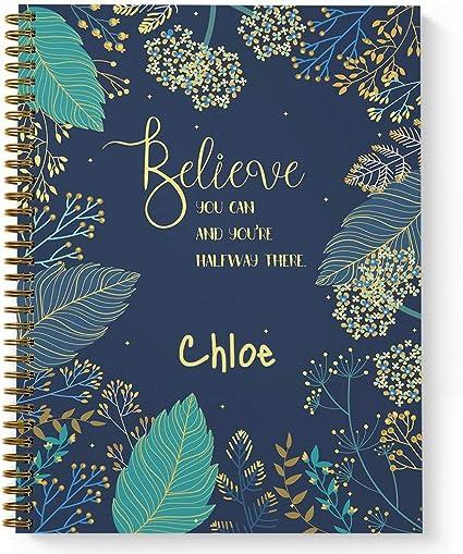 'Believe You Can'  Motivational Notebook/Journal