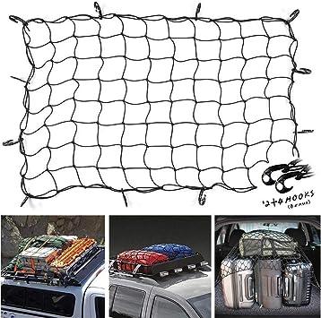 "36/"" X 60/"" LARGE CARGO NET WITH  HOOKS CARGO BUNGEE NET TIE DOWN CAR MOTORBIKE"