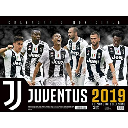 Calendario Delle Partite Della Juventus.Calendario Juventus 2019 Ufficiale Da Collezione 44x33