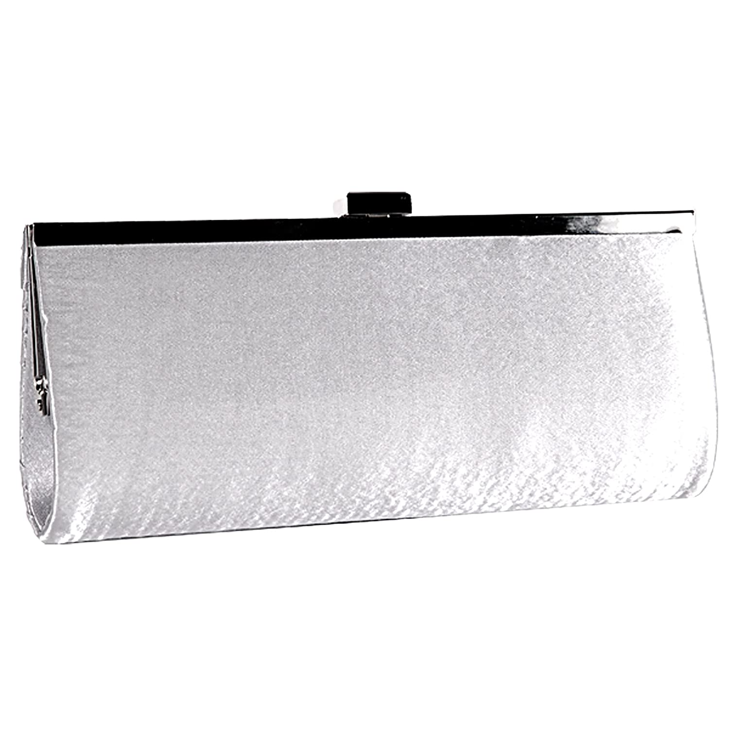 Surepromise Satin Crystal Diamante Evening Clutch Purse Prom Handbag Party Bridal: Handbags: Amazon.com