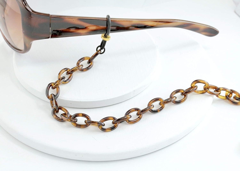 Tortoise Sunglasses Holder Chain by Maetri Eyeglass Chains Tortoise Shell Eyeglass Chain necklace for Women