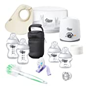 Tommee Tippee Closer to Nature All in One Newborn Baby Bottle Feeding Gift Starter Set
