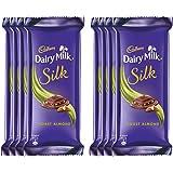 Cadbury Dairy Milk Silk Chocolate Bar, Roast Almond, 55g (pack of 8)