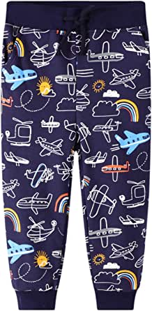 Pantalones Deportivos para Niño Algodon Cordón Ajustable Cinturón Pantalones Largos Deporte Termicos Bolsillo Elasticos Escuela Jogger Pantalones Infantil 2 3 4 5 6 7 años