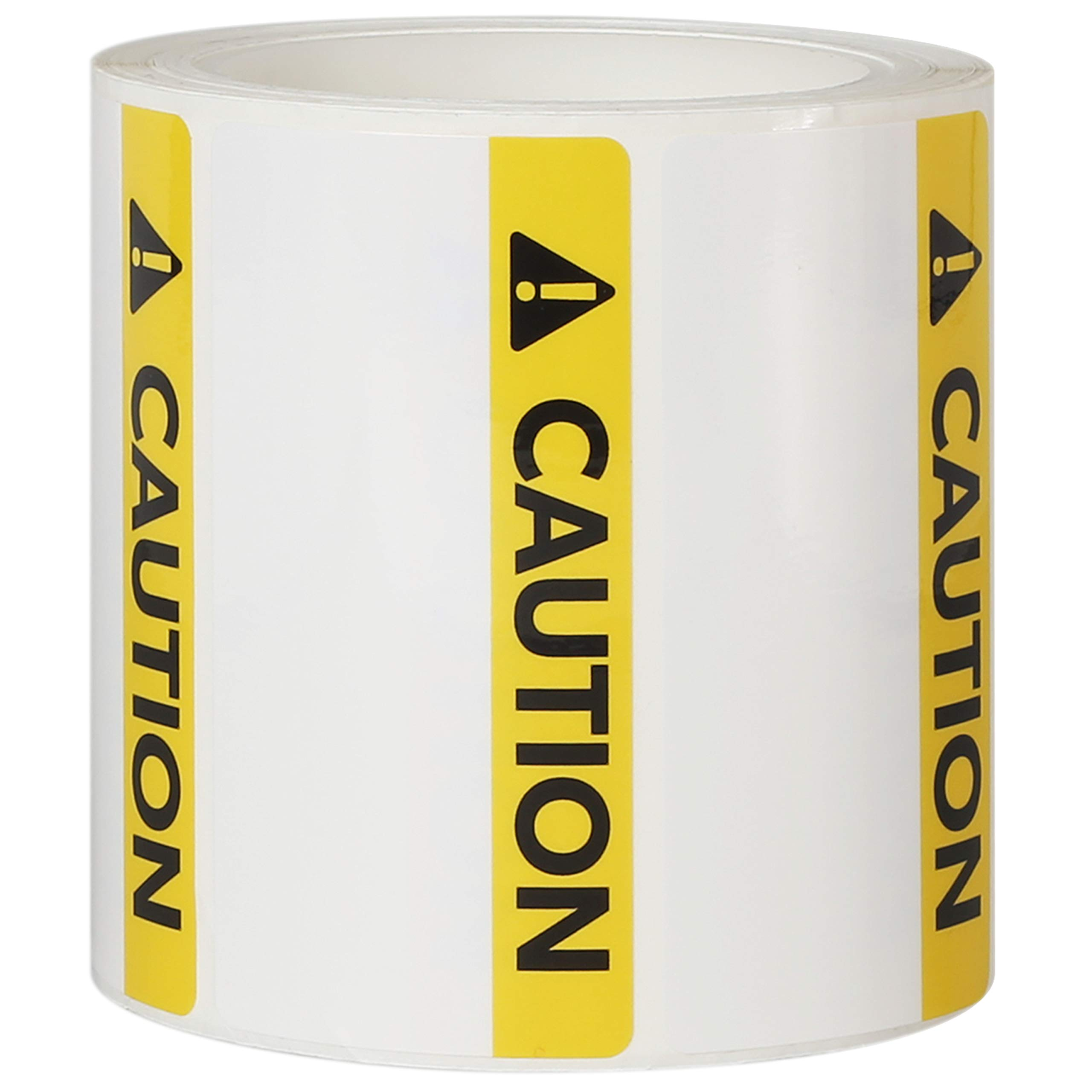 Avery Caution Header Sign Roll of 350 Labels for Thermal Transfer Printers, 4'' x 2'' (61216)