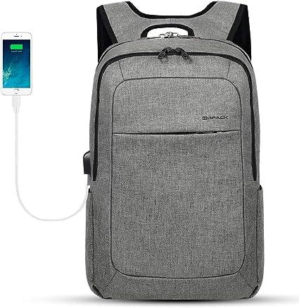 Business Rucksack Herren Damen für 15,6 Zoll Notebooks Backpack Daypacks USB L
