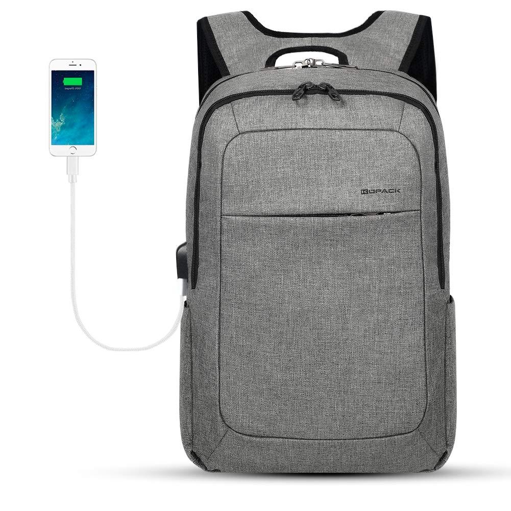 KOPACK Slim Laptop Backpacks Anti Thief Business Computer Bag College School 15 15.6 inch Gray by kopack