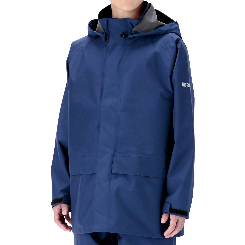 ミドリ安全 雨衣 レインベルデN(R) ゴアテックス(R) 帯電防止仕様 上衣 ネイビー B01JHIR8QY LL