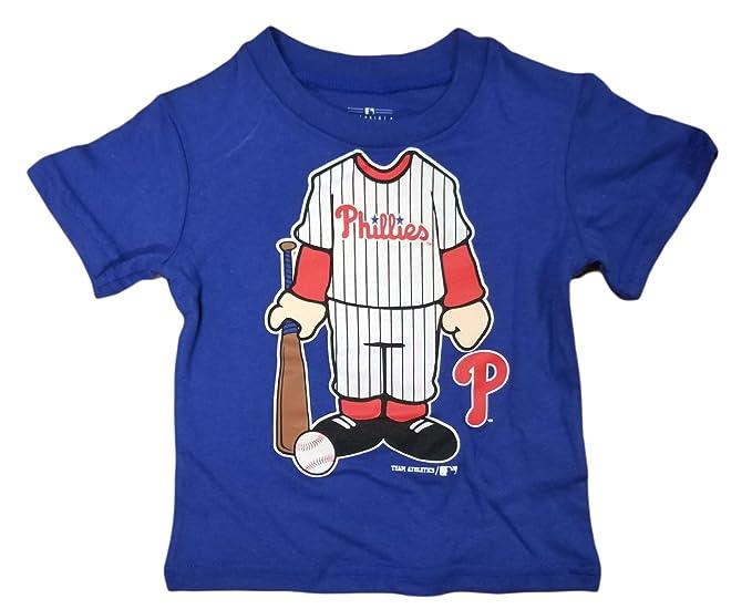 Philadelphia Phillies Infant Toddler Blue Full Body Graphic T-Shirt (2 Tee) 14e78084a42