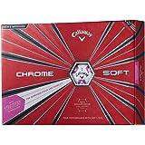 キャロウェイ(Callaway) ゴルフボール CHROM SOFT ゴルフボール 12個入り 2018年モデル ボールカラー:TRUVIS PINK ユニセックス 6421255123244 TRUVIS PINK カバー:極薄ソフトウレタン コア(2層):グラフェン搭載デュアル・ソフトファスト・コア