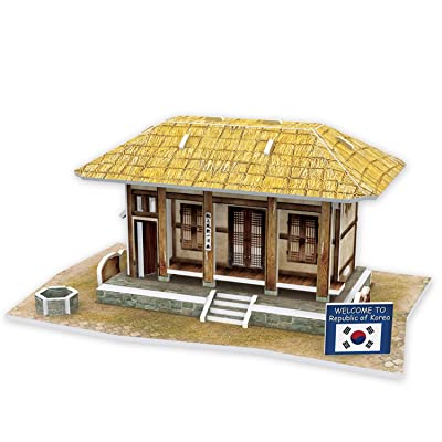 Cubicfun Cubic Fun 3d Puzzle Model 35pcs Korean Thatched House: Toys & Games