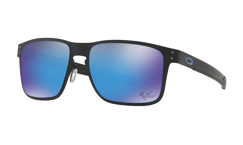 dc79f1a62be Amazon.com   Oakley Holbrook Metal Sunglasses Moto GP Matte Black with  Prizm Sapphire Polarized Lens + Sticker   Sports   Outdoors