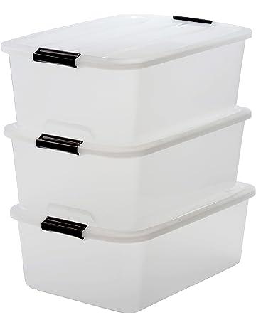 Iris – Juego de cajas con Comercio y tapa, sistema de ordenación, plástico