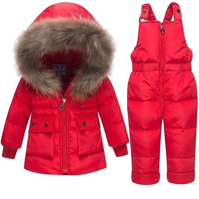 Amazon.com: JELEUON - Traje de nieve con capucha para bebés ...