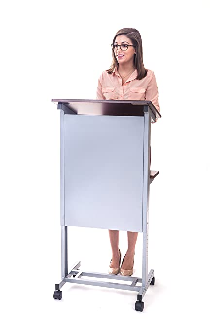 Amazoncom Stand Up Desk Store Mobile Adjustable Height Lectern