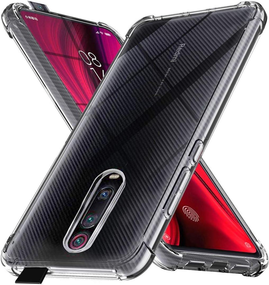 Ferilinso Funda para Xiaomi Mi 9T Pro/Mi 9T Funda,[Reforzar la versión con Cuatro Esquinas][Funda Protectora de la cámara] Funda Protectora de Silicona de Piel de Goma TPU a Prueba (Transparente)