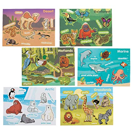 Amazon.com: Pegatina de hábitat con diseño de animales ...