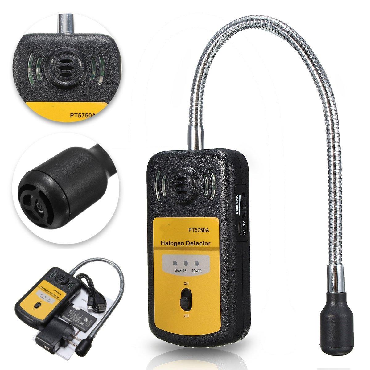 PT5750A Refrigerant Halogen Detector Leak R134a R410a R22 Air Condition HCFC CFC Checker