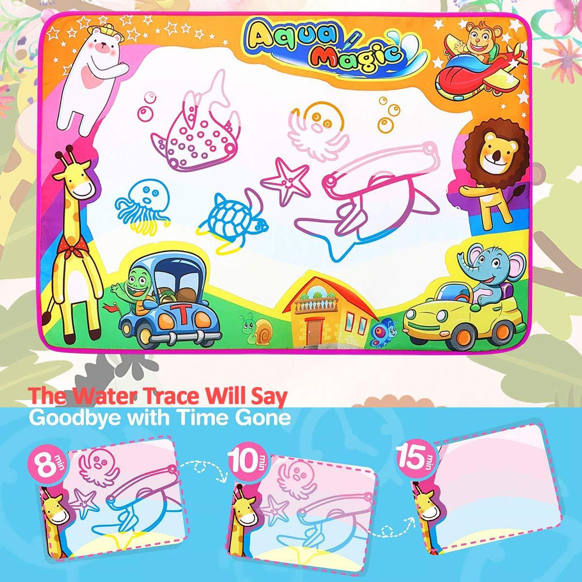 Phyles Agua Dibujo Pintura, 87*57CM Magia Doodle Mats, Magic Pen Doodle del Aqua de los Niños los Juguetes del Dibujo Mat Juguete Educativo, Regalo para ...