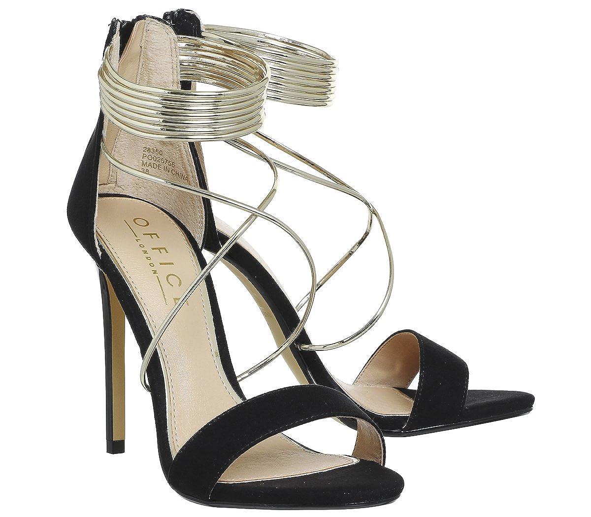 402d6951e0 Office Hollywood Tubular Strap Sandal Black Gold - 8 UK: Amazon.co.uk:  Shoes & Bags