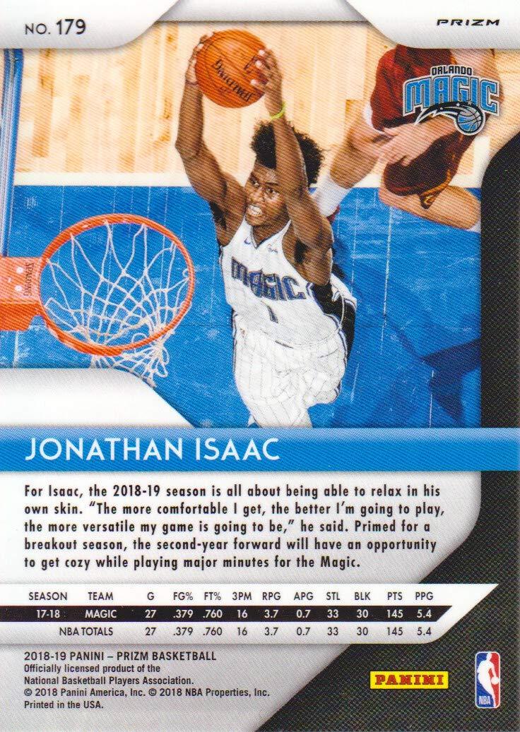 2018-19 Panini Prizm Basketball Prizms Hyper #179 Jonathan Isaac Orlando Magic at Amazons Sports Collectibles Store