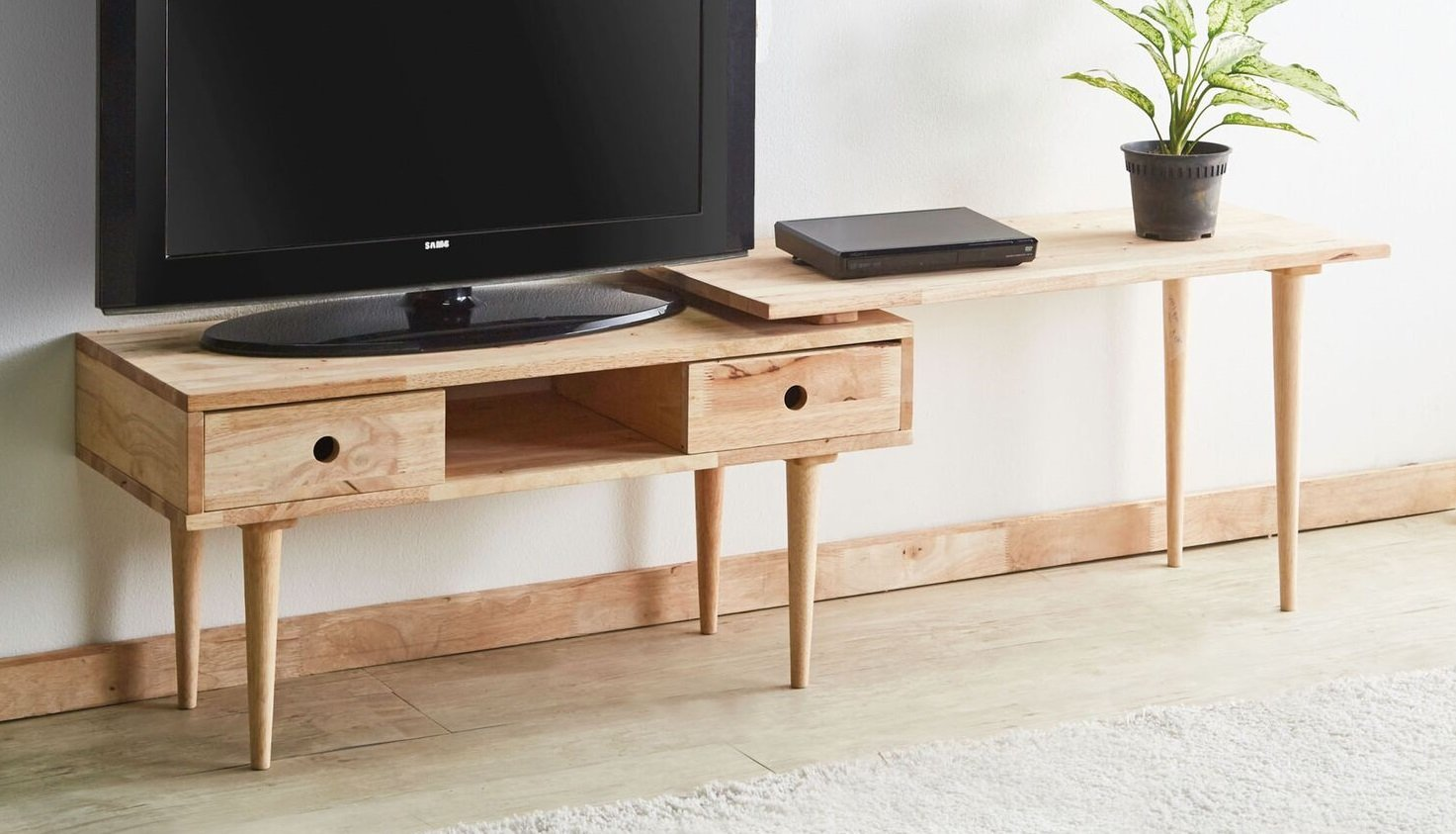 """Major-Q 35"""" Natural Wooden TV Stand/Coffee Table with Extension, 9081950 - Major-Q is a registered furniture trademark brand. Please search Major-Q for more high quality furniture related products All Major-Q Products will be covered with Limited Major-Q Warranty. Please buy with confidence. TV Stand w/Extension Top, 35"""" x 16"""" x 19""""H - tv-stands, living-room-furniture, living-room - 71pZ21j%2BHnL -"""
