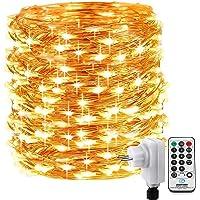 Qedertek Luces de Navidad de Alambre de cobre, Cadena de Luces 20M 200 LED Blanco Calido, Guirnalda Luces Arbol de…