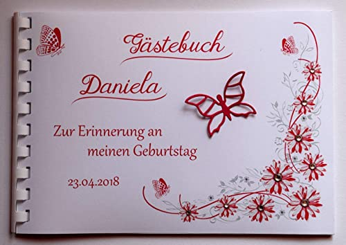 Gästebuch Personalisiert Für Hochzeit Babyparty Einschulung
