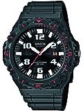 Casio MRW-S300H-8BVEF - Reloj analógico de cuarzo para hombre con correa de resina, color negro