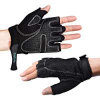 Sable Workout Cycling Weightlifting Gloves for Gym, Biking, Exercise, Non Wristwrap Anti-Slip Silica Gel Grip for Men Women, Crossfit, Fitness, Bodybuilding, Sports, Power Training