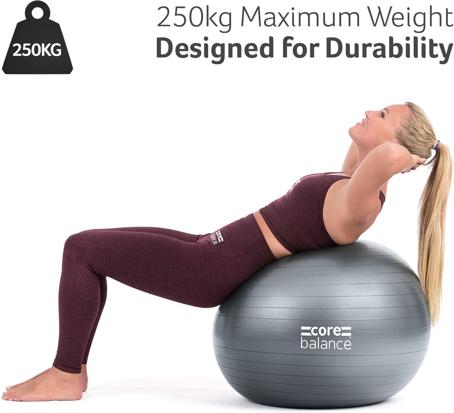 pelota de yoga para estirar la espalda