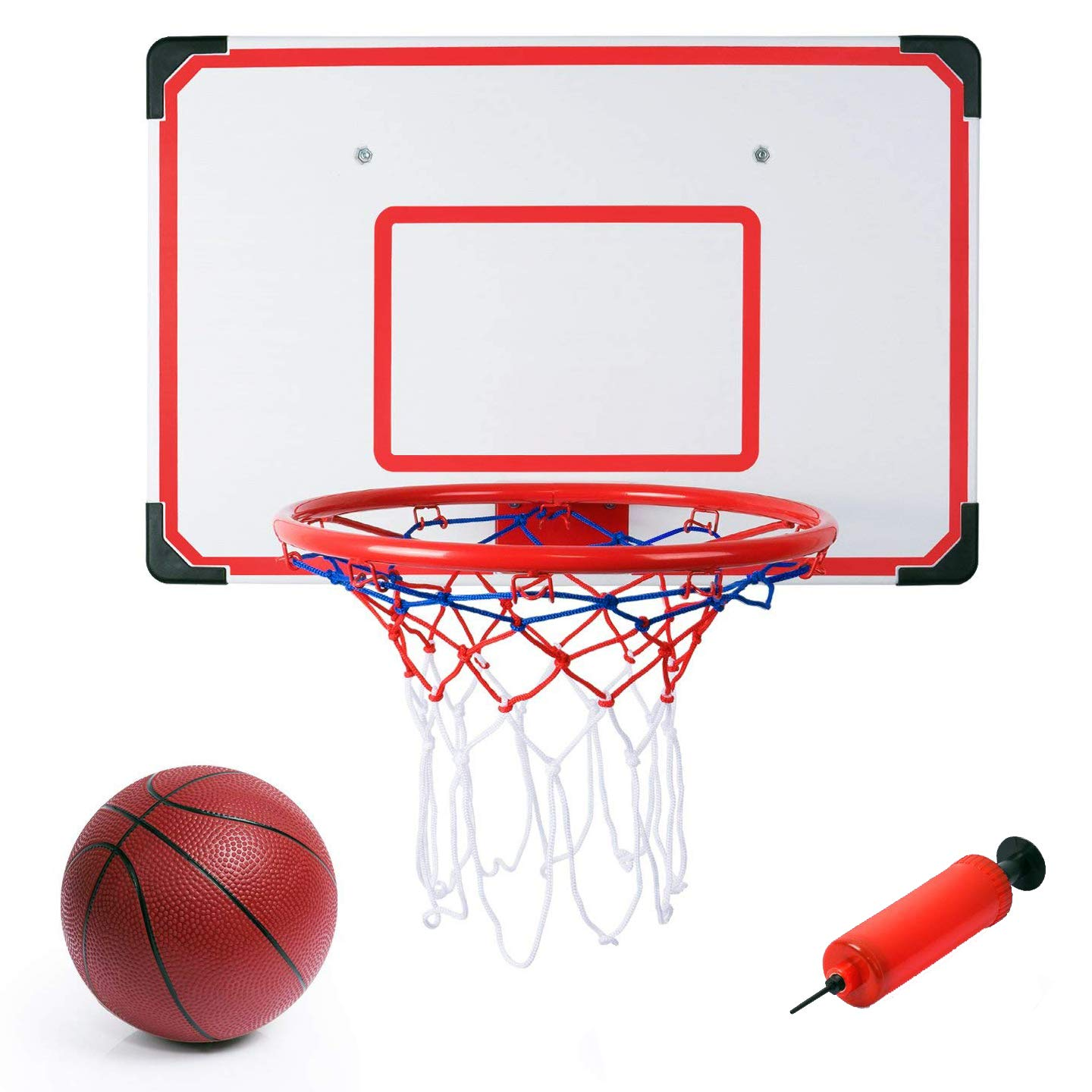 Liberty Imports Indoor and Outdoor XL Big Basketball Hoop Set - 27 inches x 18 inches Backboard + 15 inches Rim