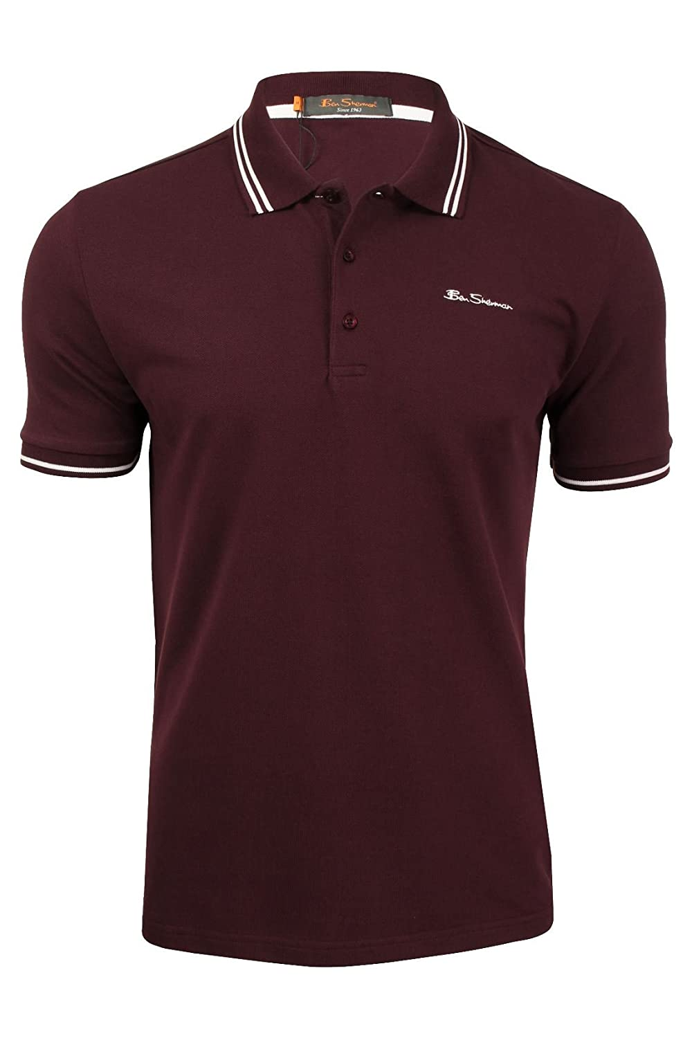 BEN SHERMAN CLAIC Tipped Pique Polo Tops y Camisetas Hombres ...
