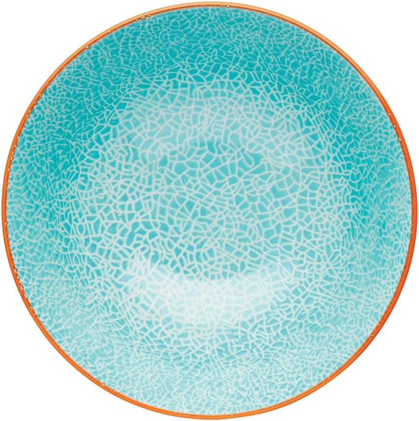 - Blue KitchenCraft Footed Tile-Patterned Ceramic Bowls Set of 4 6 15.5 cm