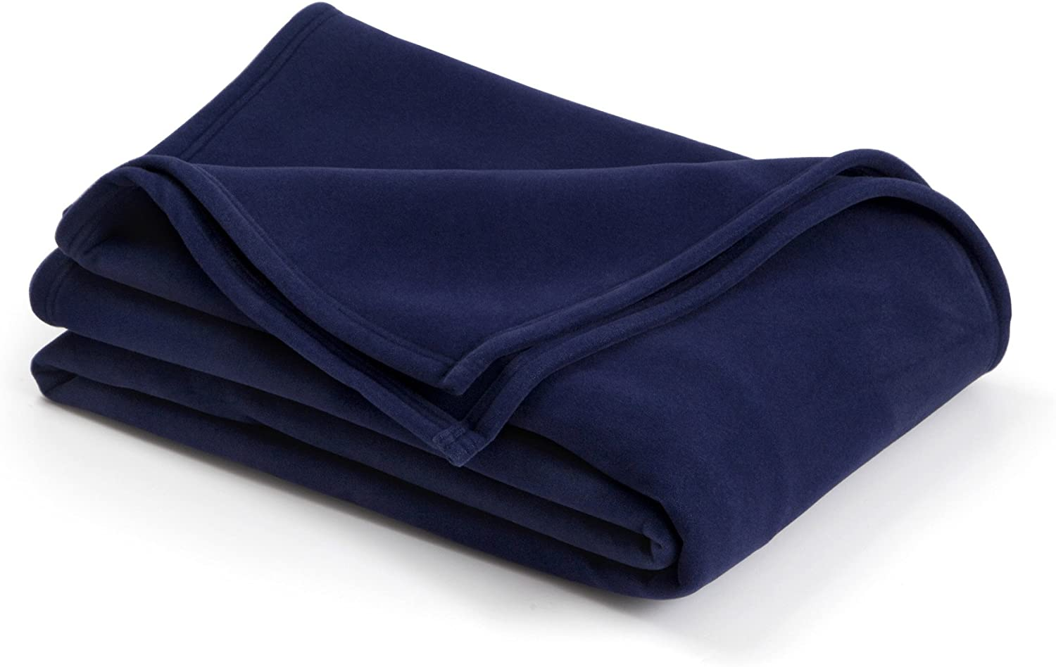 The Original Vellux Blanket - Full/Queen, Soft, Warm, Insulated, Pet-Friendly, Home Bed & Sofa - Navy: Home & Kitchen