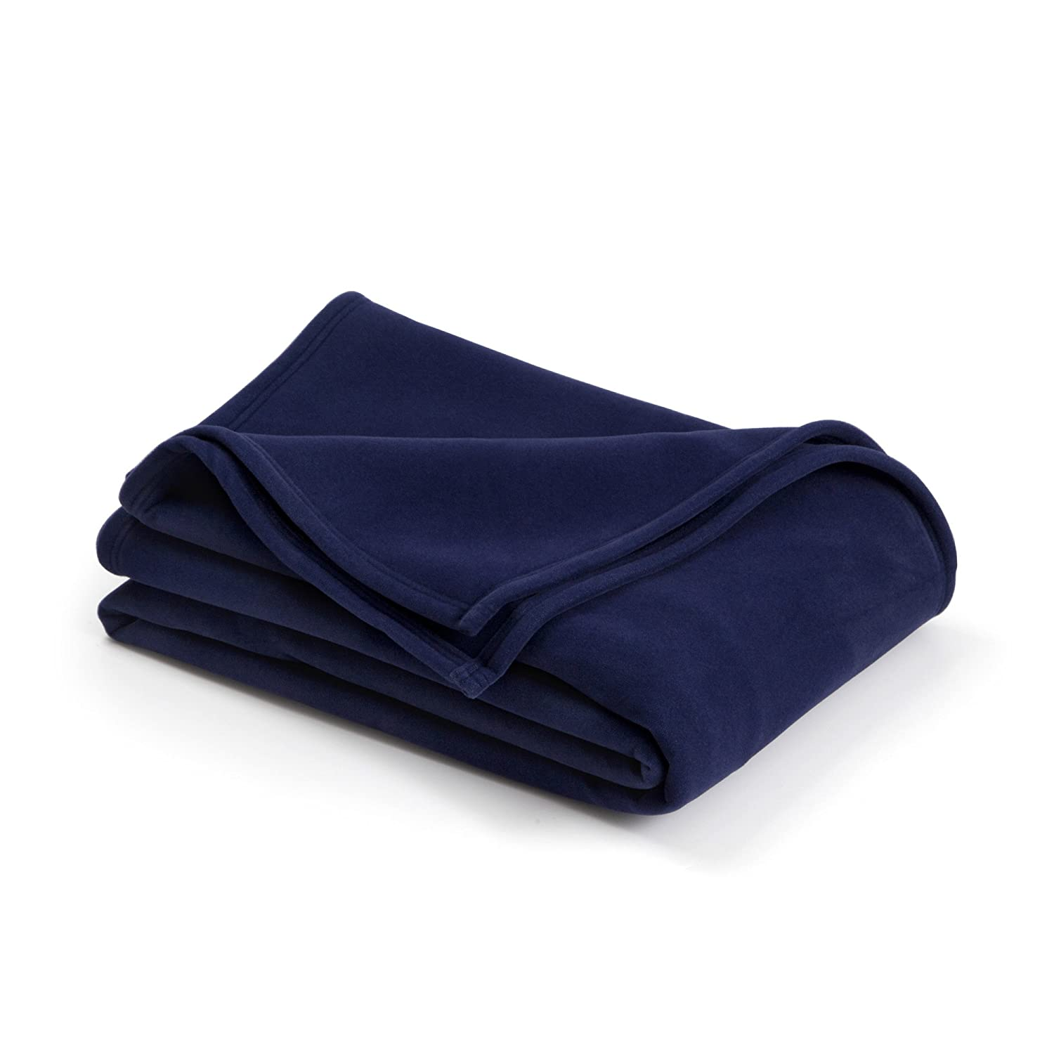 The Original Vellux Blanket - Full/Queen, Soft, Warm, Insulated, Pet-Friendly, Home Bed & Sofa - Navy