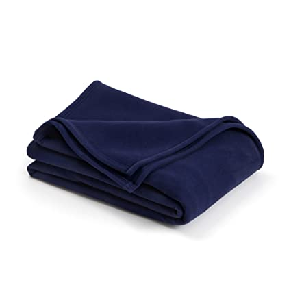 The Original Vellux Blanket King Soft Warm Insulated Pet Friendly Home Bed Sofa Navy