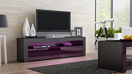 tv console milano classic black tv stand up to 70inch flat tv screens