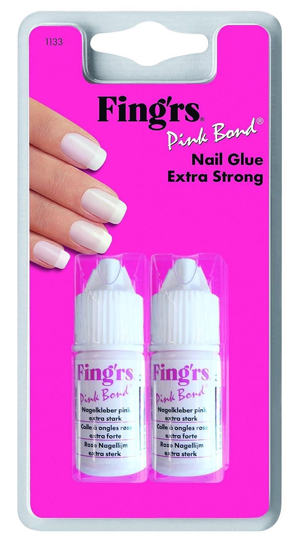 Fing 'RS uñas adhesivo Rosa Bond, 1er Pack (1x 2unidades) Fing' rs 1133