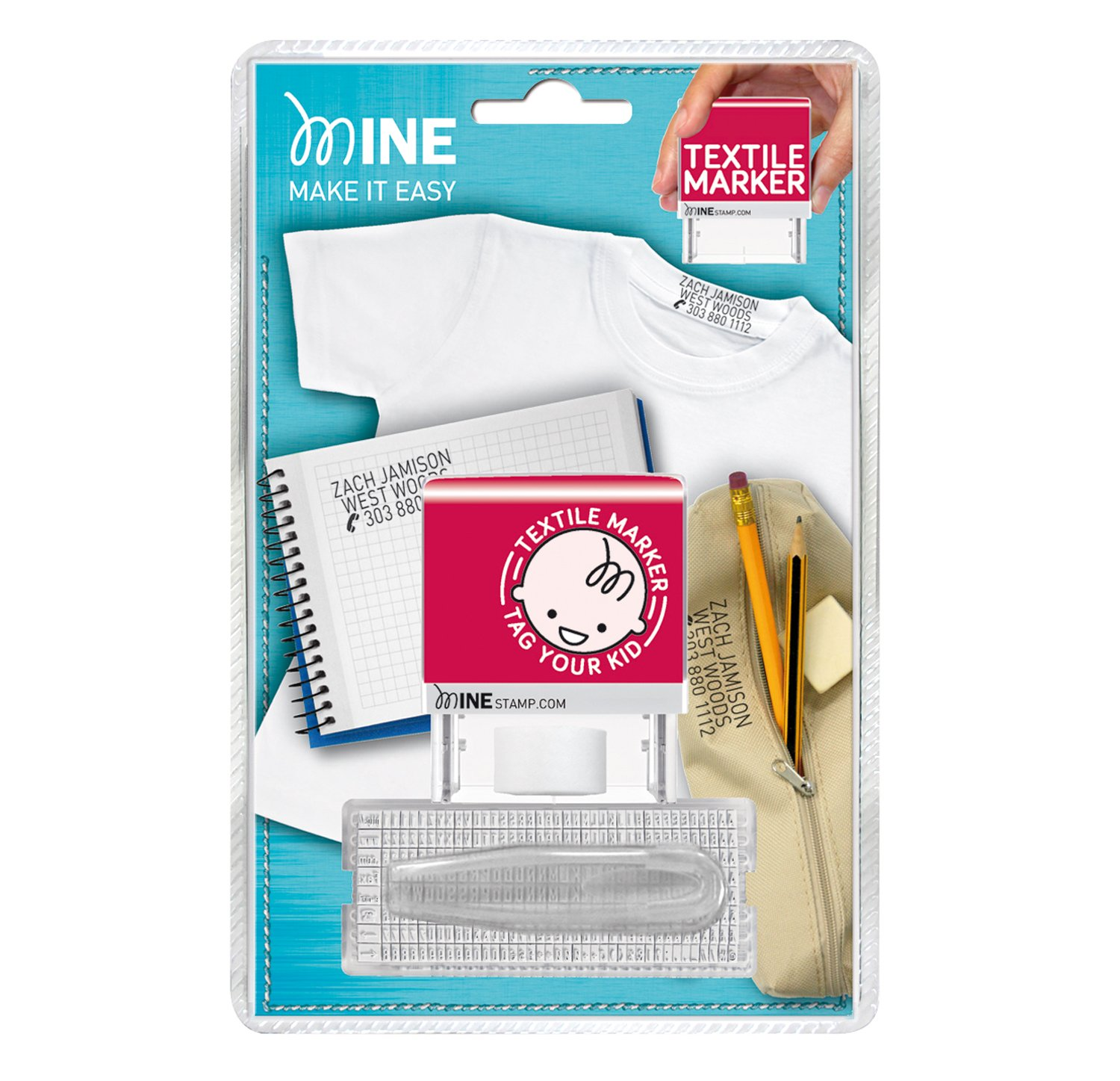 MINE STAMP Marcador de Ropa y Libros MINESTAMP 20/1SET