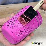 """KINGART 2"""" Foam Brush Value Pack - Set Of 20"""
