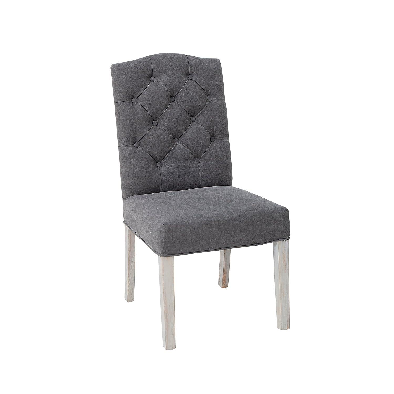 Sympathisch Chesterfield Esszimmerstühle Referenz Von Eleganter Stuhl Castle Grau Mit Steppung Im