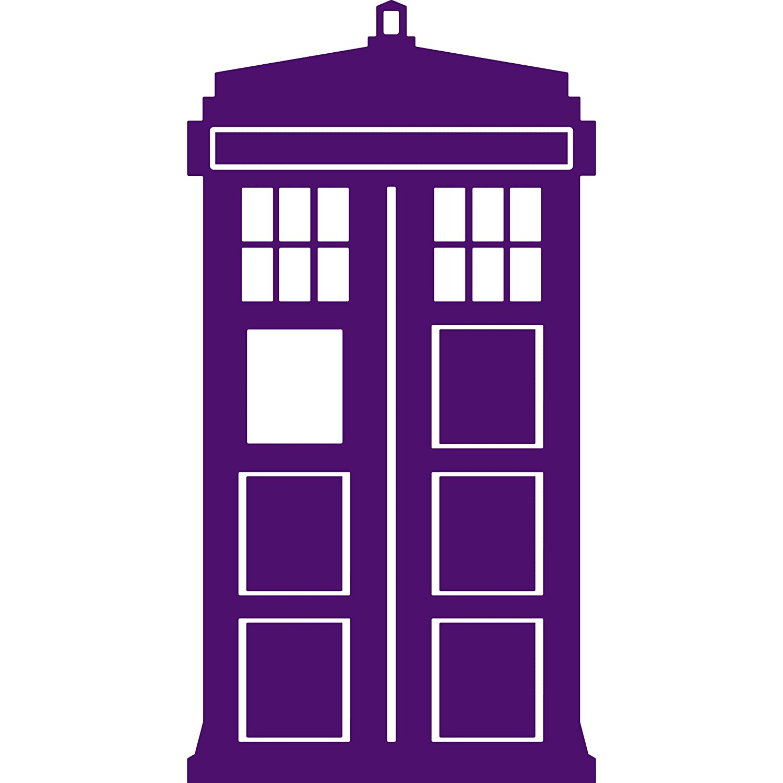 Yoonek Graphics Doctor Who Tardis Decal Sticker 531 6, White