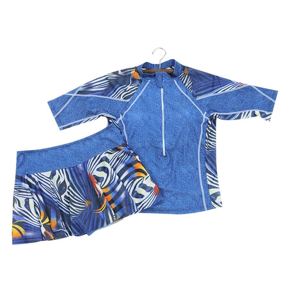 女性の 水着 Ms. 大きなサイズ 分割 水着 セット エクササイズ 保守的な 水着 に適して 水泳 ウェディング エクササイズ スパ B07F1TJ437 XXXXXX-Large|ブルー
