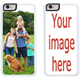 Custom Phone Cases for iPhone 6S PLUS, iPhone 6 PLUS, iZERCASE [PERSONALIZED CUSTOM PICTURE CASE] [Perfect Fit] Make Your Own Phone Case (WHITE)