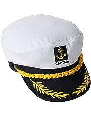 Cappello da marinaio bianco e blu navy regolabile 5226b1d8b4e5