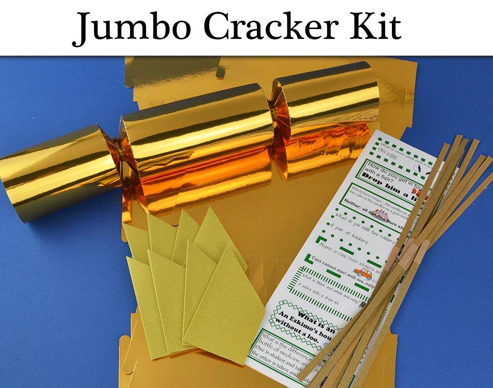 8 jumbo gold foil make fill your own cracker making craft kit 8 jumbo gold foil make fill your own cracker making craft kit amazon kitchen home solutioingenieria Choice Image