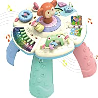 Squad Novanym Learning Table with Piano, Rotating Car, Flip Book - Baby Birthday Gift, Musical Learning Toys for Babies