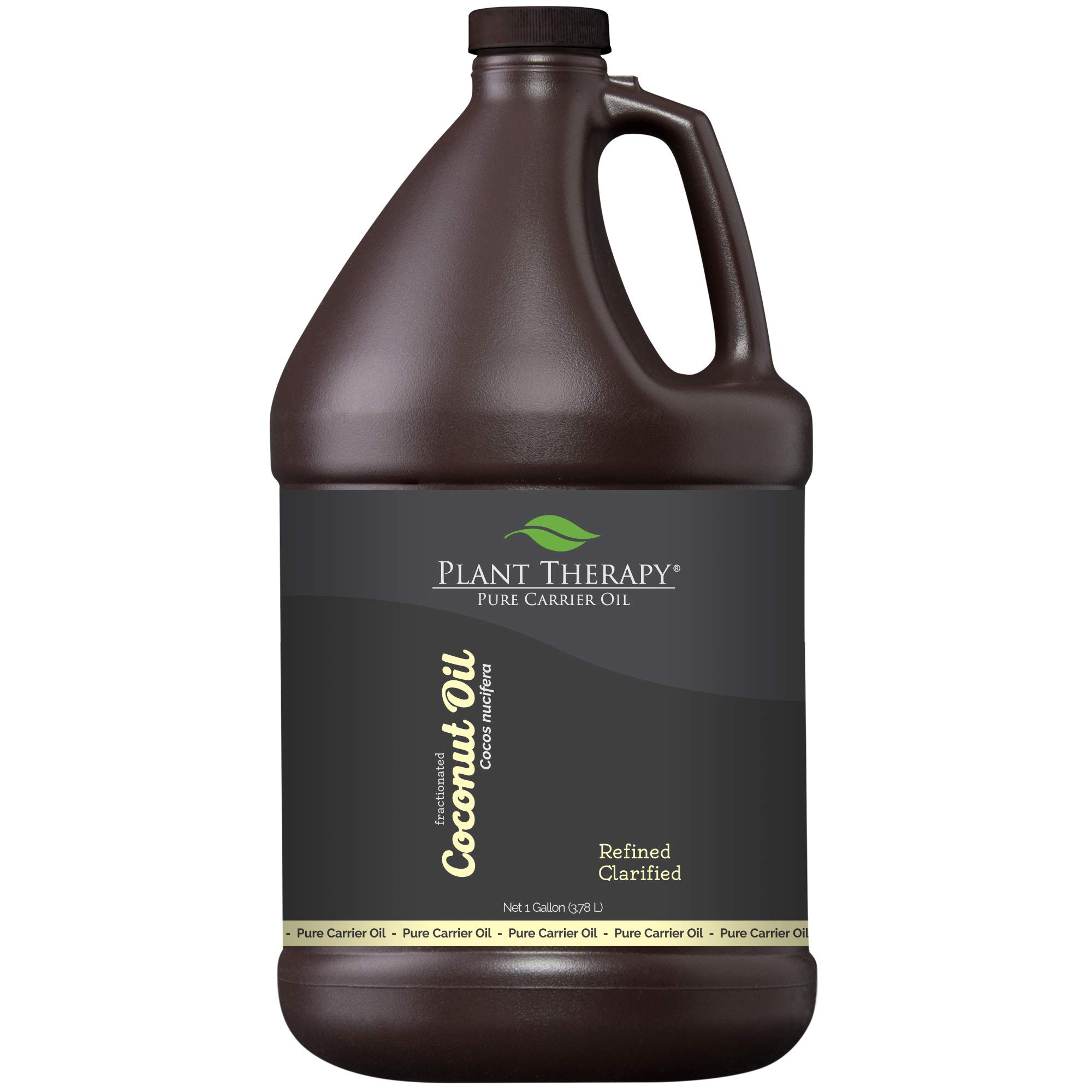 Plant Therapy Coconut (Fractionated) Carrier Oil. A Base Oil for Aromatherapy, Essential Oil or Massage use. 1 Gallon.