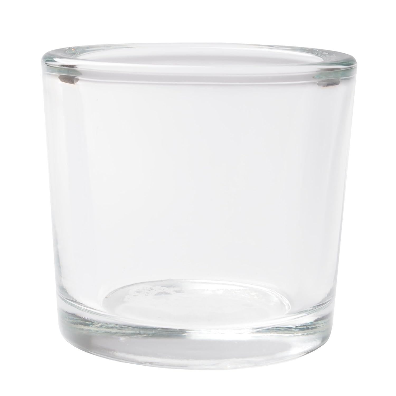 Meditation Reiki Votive Candle Holders Hosleys Set of 6 Heavy Clear Chunky Glass LED Tea Light Parties 2.4 High Spa Aromatherapy Bridal Setting Ideal GIFT for Weddings Bulk Buy O9